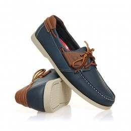Chatham Aruba Shoes Navy/Tan