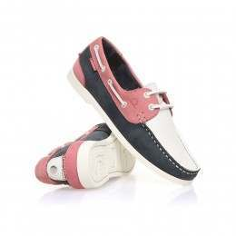 Chatham Willow Shoes Navy/White/Coral