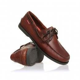 Chatham Galley Shoes Dark Brown