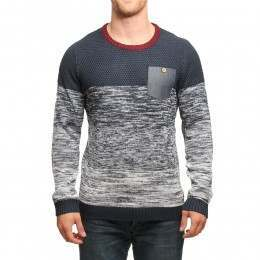RUSTY YEAH NAH KNITTED CREW Navy Blue