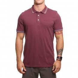Animal Pique Polo Shirt Mauve Purple