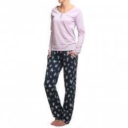 Animal Ditsy Night Pyjama Set Ink Blue