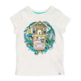 Animal Infant Girls Betsy Bus Tee White