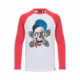 Animal Boys Ripp Tide Long Sleeve Top Red