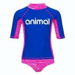 Animal Girls Shipwrecked Rash Suit Pink