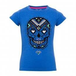 Animal Girls Diamond Skull Tee Violet Blue