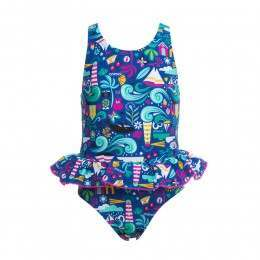 Animal Infant Girls Seaside Swimsuit Blue