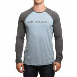 Animal Action Long Sleeve Top Castle Grey
