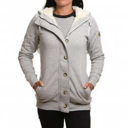 Animal Buttoned Sherpa Grey Marl