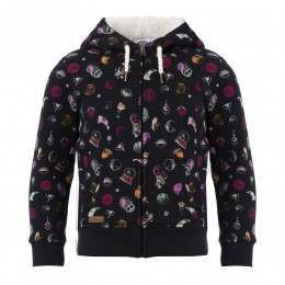 Animal Girls Mystic Dot Sherpa Black