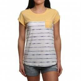 Animal Sea Stripes Tee Sunshine Yellow Marl