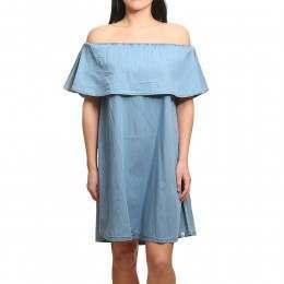 Animal Senorita Dress Chambray Blue