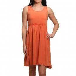 Animal Lacee Dress Terracotta Red