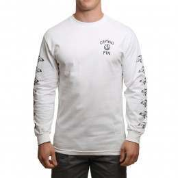 Captain Fin Strange World Long Sleeve Top White