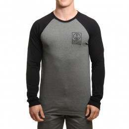 Captain Fin Boxed Out II L/S Top Heather Black