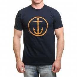 Captain Fin Original Anchor Tee Navy/Gold