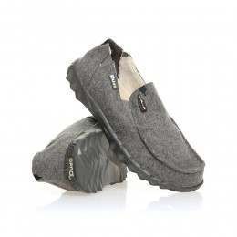 Hey Dude Farty Chalet (fur Lined) Shoes Grey Felt
