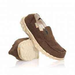 Hey Dude Farty Chalet Felt (Fur Lined) Shoes Chocolate