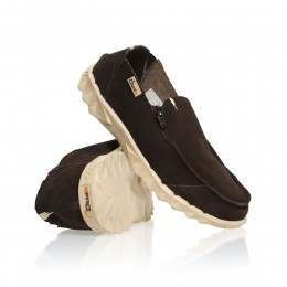 Hey Dude Farty Suede Shoes Chocolate