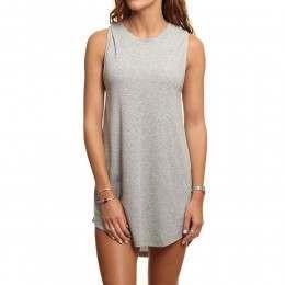 Rusty Blank Rib Dress Grey Marle