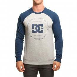 DC Rebuilt 2 Crew Heather Grey/Blue