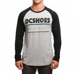 DC Shiftwork Long Sleeve Top Heather Grey/Black