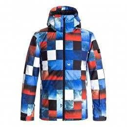 Quiksilver Boys Mission Print Snow Jacket Check