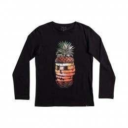 Quiksilver Boys Hot Pineapple L/Sleeve Top Black