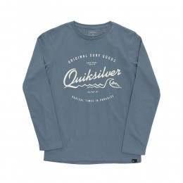 Quiksilver Boys West Pier L/S Top Captain Blue