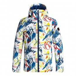 Quiksilver Boys Mission Print Snow Jacket White