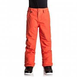Quiksilver Boys Estate Snow Pants Mandarin Red