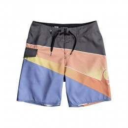 Quiksilver Boys Slash Fade Logo Boardshorts Iron