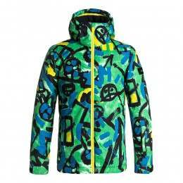 Quiksilver Boys Mission Print Snow Jacket Green