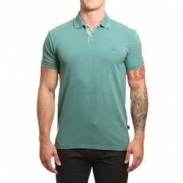 Quiksilver Miz Kimitt Polo Shirt Silver Pine