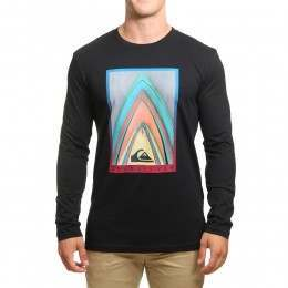 Quiksilver Stacked Long Sleeve Top Black