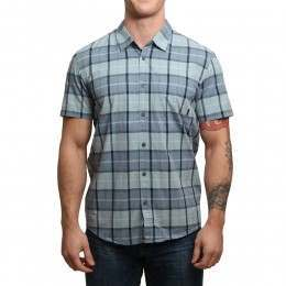 Quiksilver Everyday Check S/S Shirt Stone Blue