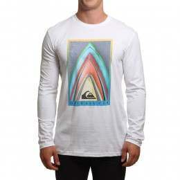 Quiksilver Stacked Long Sleeve Top White