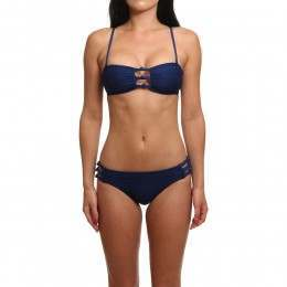 Roxy Drop Diamond Bandeau Bikini Blue Depths