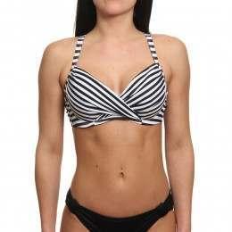Roxy Essentials Wrap Bra Top Bright White Stripe
