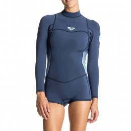 Roxy Syncro 2mm Long Sleeve Shorty Wetsuit Blue