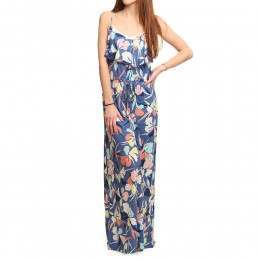 Roxy Easy Tropical Maxi Dress Floral Chambray