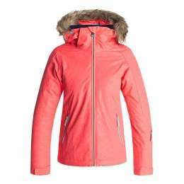 Roxy Girls Jet Ski Solid Snow Jacket Grapefruit