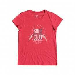 Roxy Girls Coconut Surf Tee Rouge Red