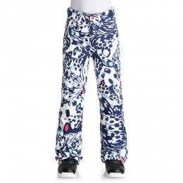 Roxy Girls Backyard Print Snow Pants Blue