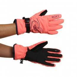 Roxy Poppy Snow Gloves Neon Grapefruit