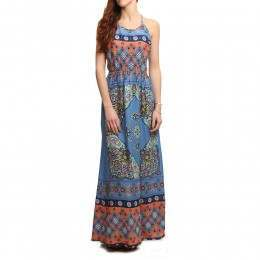 Roxy Summer Fleet Maxi Dress Morning Sky