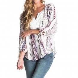 Roxy Uptown River Long Sleeve Top Pristine