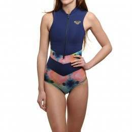 Roxy Pop Surf Onesie Blue Depths