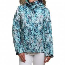 Roxy Jet Ski Snow Jacket Blue Flowers