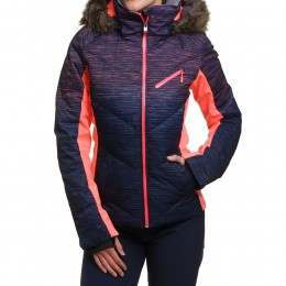 Roxy Snowstorm Print Snow Jacket Neon Grapefruit